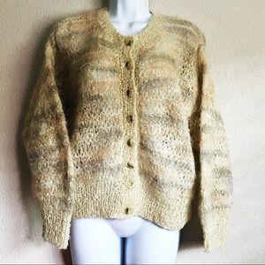 Bernat Klein Scotland Wool Mohair Knitted Sweater